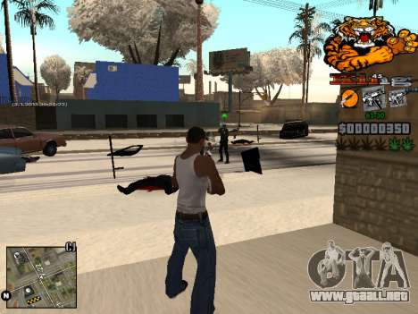C-HUD King para GTA San Andreas quinta pantalla