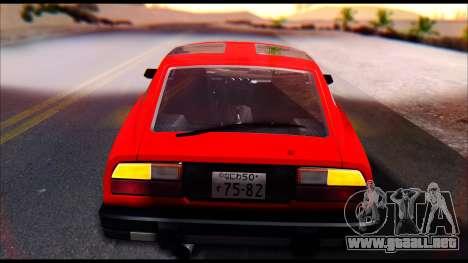 Nissan S130 para GTA San Andreas vista hacia atrás