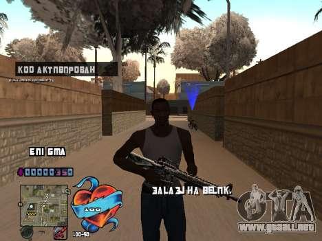 C-HUD Corazón para GTA San Andreas tercera pantalla
