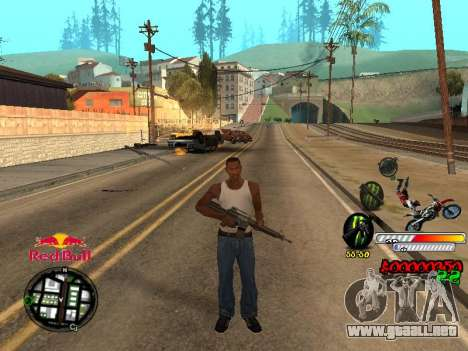 С-HUD RedBull para GTA San Andreas sucesivamente de pantalla