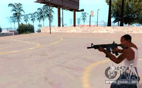 M4A1 (Dodgers) para GTA San Andreas sucesivamente de pantalla