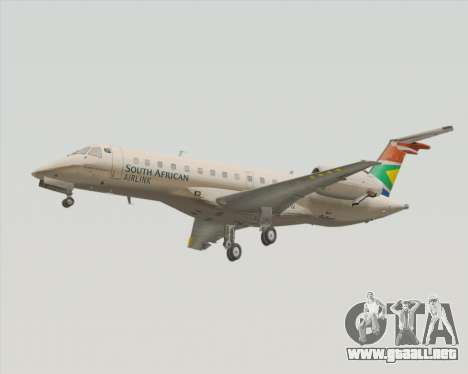 Embraer ERJ-135 South African Airlink para GTA San Andreas left