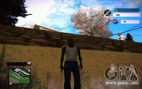 C-HUD by Jeremy Wilsher para GTA San Andreas sucesivamente de pantalla