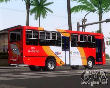 Caio Foz Super I 2006 Transurbane Guarulhoz 2201 para GTA San Andreas vista hacia atrás