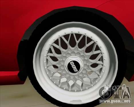 Fiat Siena 2008 para vista lateral GTA San Andreas