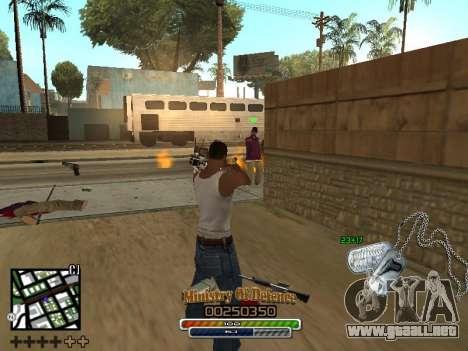 C-HUD для Ejército para GTA San Andreas sucesivamente de pantalla