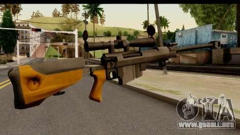 Sinons PGM Ultima Ratio Hecate II para GTA San Andreas segunda pantalla