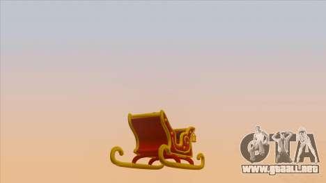 Santa Claus Sleigh para GTA San Andreas left