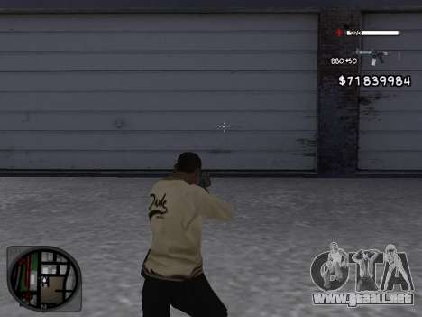 C-HUD White para GTA San Andreas segunda pantalla