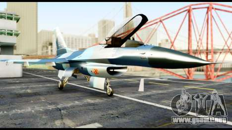 F-16 Aggressor Alaska para la visión correcta GTA San Andreas