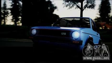 Volkswagen Golf Mk1 GTD para vista lateral GTA San Andreas