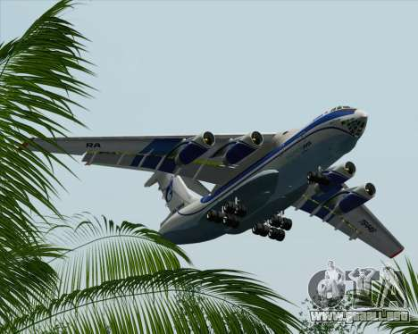 IL-76TD Gazprom Avia para vista inferior GTA San Andreas