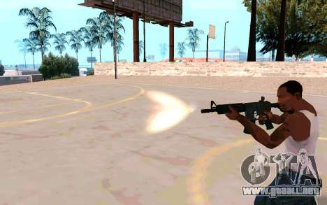 M4A1 (Dodgers) para GTA San Andreas quinta pantalla