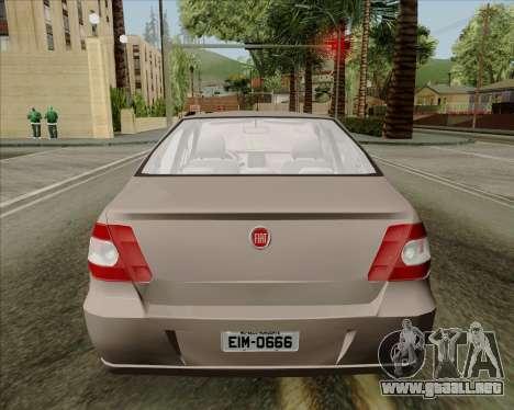 Fiat Siena 2008 para GTA San Andreas vista hacia atrás