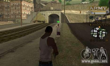 C-HUD Army para GTA San Andreas sucesivamente de pantalla
