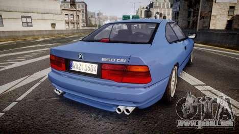 BMW E31 850CSi 1995 [EPM] para GTA 4 Vista posterior izquierda