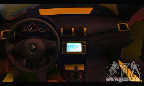 BMW M3 Coupe Tuned para visión interna GTA San Andreas