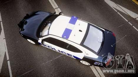 Dodge Charger 2006 Algonquin Police [ELS] para GTA 4 visión correcta
