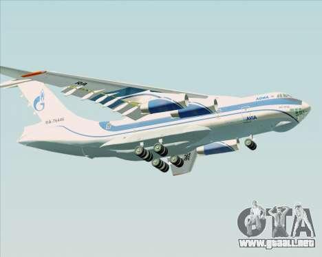 IL-76TD Gazprom Avia para visión interna GTA San Andreas