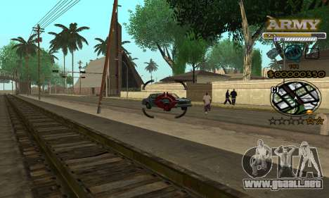 C-HUD Army para GTA San Andreas quinta pantalla