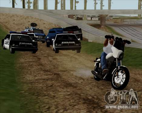 Harley-Davidson FXD Super Glide T-Sport 1999 para vista lateral GTA San Andreas