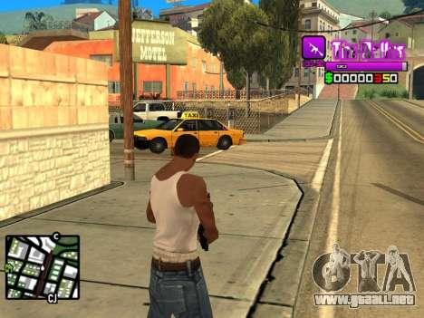 C-HUD Ballas by Inovator para GTA San Andreas segunda pantalla