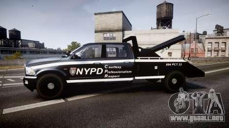 Dodge Ram 3500 NYPD [ELS] para GTA 4 left