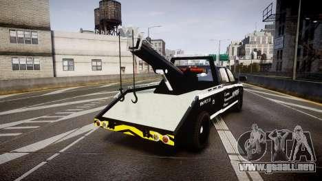 Dodge Ram 3500 NYPD [ELS] para GTA 4 Vista posterior izquierda