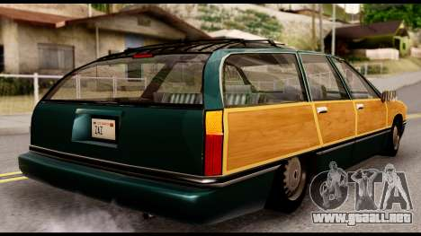 Elegant Station Wagon with Wood Panels para GTA San Andreas left
