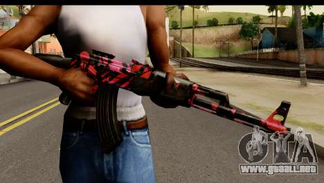 Red Tiger AK47 para GTA San Andreas