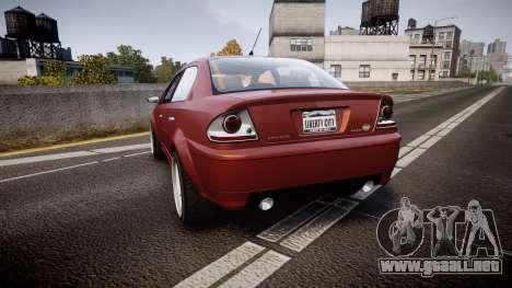Declasse Premier Sport R para GTA 4 Vista posterior izquierda