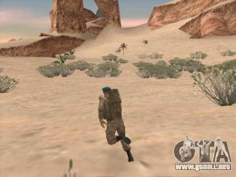 Granadero de las tropas aerotransportadas de la para GTA San Andreas sexta pantalla