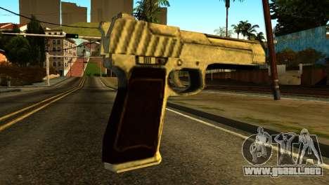 Desert Eagle from GTA 5 para GTA San Andreas segunda pantalla