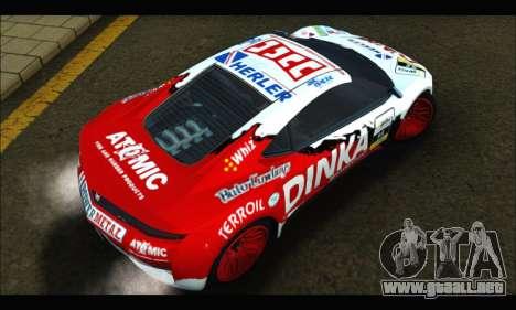 Dinka Jester Racear (GTA V) para visión interna GTA San Andreas