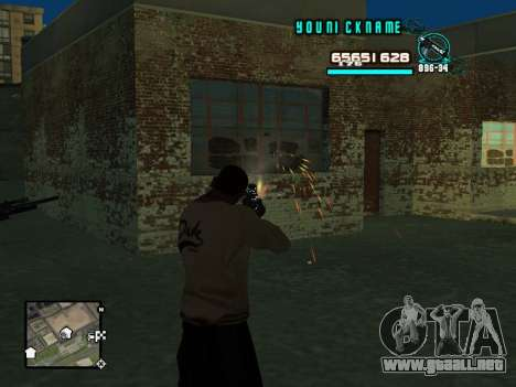 C-HUD Cosmos para GTA San Andreas tercera pantalla