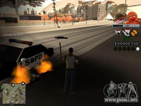 C-HUD Cookie para GTA San Andreas tercera pantalla