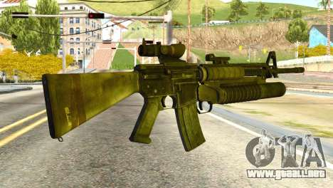 Assault Rifle from Global Ops: Commando Libya para GTA San Andreas segunda pantalla