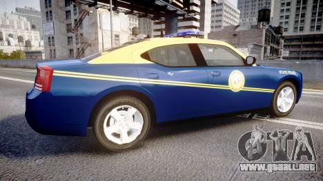 Dodge Charger West Virginia State Police [ELS] para GTA 4 left
