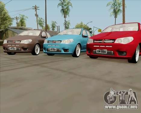 Fiat Siena 2008 para GTA San Andreas vista posterior izquierda