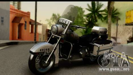 Police Bike GTA 5 para GTA San Andreas