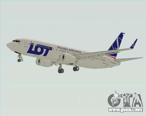 Boeing 737-800 LOT Polish Airlines para GTA San Andreas vista hacia atrás