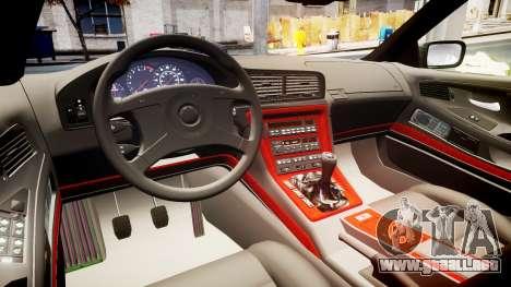 BMW E31 850CSi 1995 [EPM] para GTA 4 vista interior