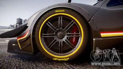 Pagani Zonda Revolution 2013 para GTA 4 vista hacia atrás