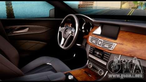 Mercedes-Benz CLS 63 AMG 2010 para la visión correcta GTA San Andreas