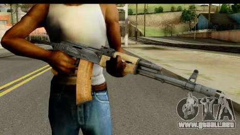 AKS-74 de Luz de Madera para GTA San Andreas tercera pantalla