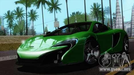 McLaren 650S Spider 2014 para la visión correcta GTA San Andreas