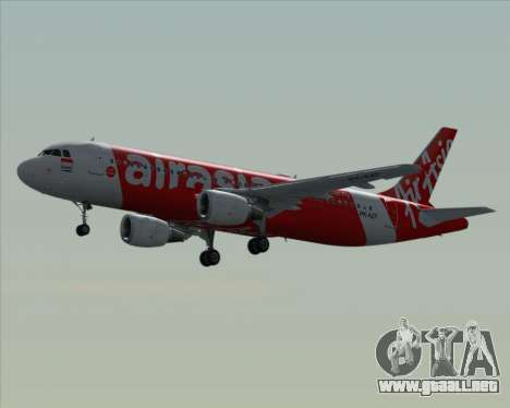 Airbus A320-200 Indonesia AirAsia para vista inferior GTA San Andreas