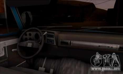 Chevrolet Custom Deluxe para GTA San Andreas vista hacia atrás
