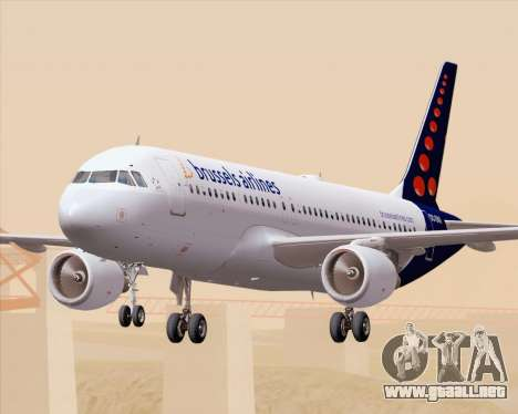 Airbus A320-200 Brussels Airlines para GTA San Andreas interior