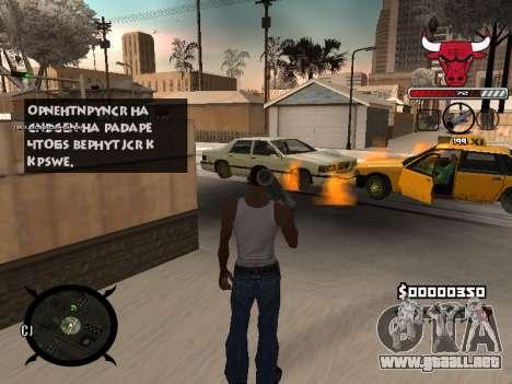 C-HUD Angry para GTA San Andreas sucesivamente de pantalla